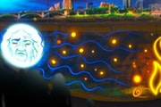 """An image from Moira Villiard's """"Madweyaashkaa: Waves Can Be Heard,"""" which will be projected onto the Upper St. Anthony Falls Lock and Dam Feb. 1"""