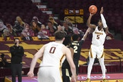Gophers guard Marcus Carr hit a 3-pointer to give the Gophers a one-point lead with 11.2 seconds left vs. Purdue