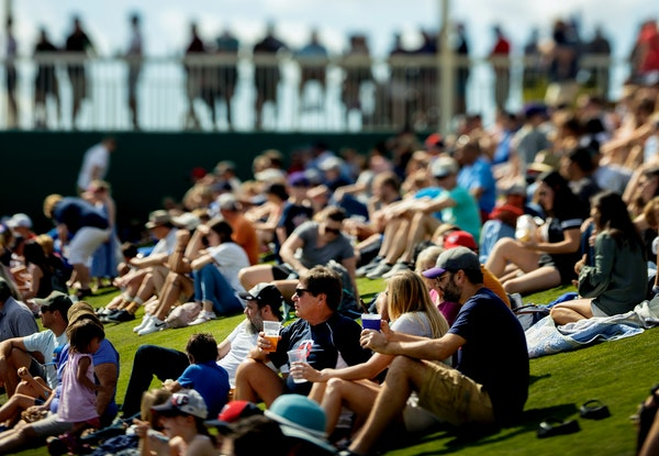 Fans flocked to spring training in Fort Myers last year; this year, they'll only be allowed in for games in small numbers.