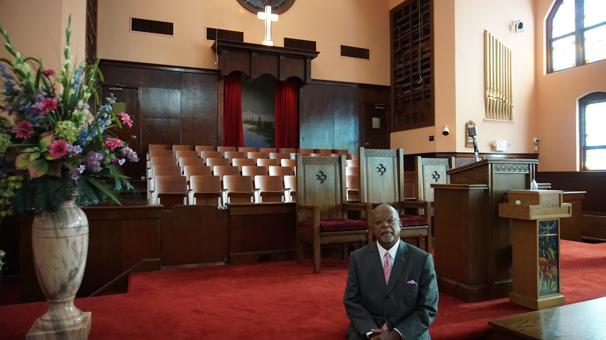 Host Henry Louis Gates Jr. inside of Historic Ebenezer Baptist Church in Atlanta on 'The Black Church: This is Our Story, This is Our Song.'