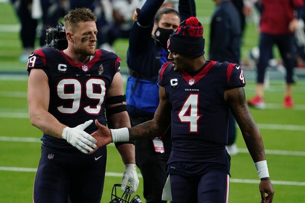 J.J. Watt's release from the Texans could have an impact on Deshaun Watson's future and create an interesting trade market for Kirk Cousins.