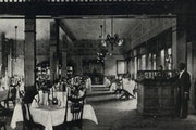 The main dining room of Guaranty Loan Building. The restaurant was owned by Jasper Gibbs.