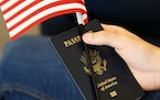 A United States passport, flag not included. (File photo/El Nuevo Herald/TNS)