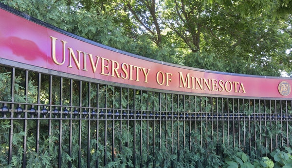 Entrance to the campus of the University of Minnesota.