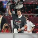 Tampa Bay Buccaneers quarterback Tom Brady holds the Vince Lombardi Trophy after winning Super Bowl LV