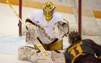 Goalie Jack LaFontaine has five shutouts this season for the Gophers.