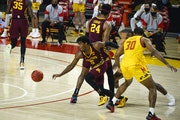 Guard Marcus Carr and the Gophers have been stunningly good in beating Michigan and Ohio State, and stunningly bad in games such as Sunday's 72-59 l