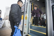 Metro Mobility is refocusing its service on riders like Lolly Lijewski, who uses a seeing-eye dog named Jiffy. Ride requests declined at the start of