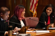 St. Paul City Council member Mitra Jalali Nelson, seen at a Nov. 14, 2018, council meeting, sponsored the tenant protection ordinance, which pas