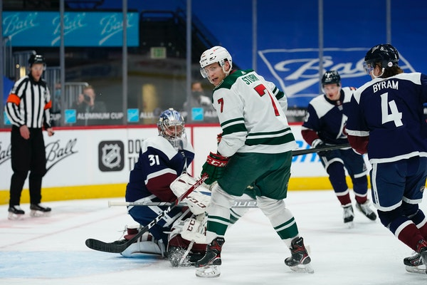 Wild center Nico Sturm, during a game earlier this month.