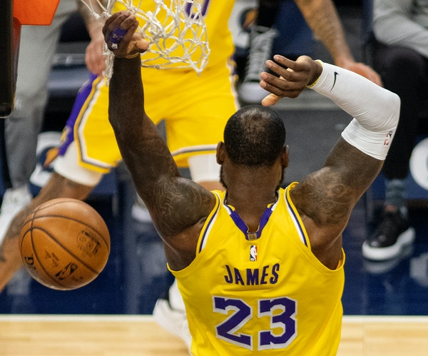 Souhan:  'GOAT' debate. LeBron makes case again in win over Wolves.