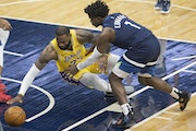 LeBron James (30 points) and Anthony Edwards (28) led their respective teams Tuesday night at Target Center.