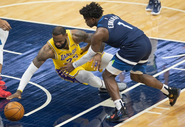 Career-best game by Edwards isn't enough for Wolves against Lakers, LeBron
