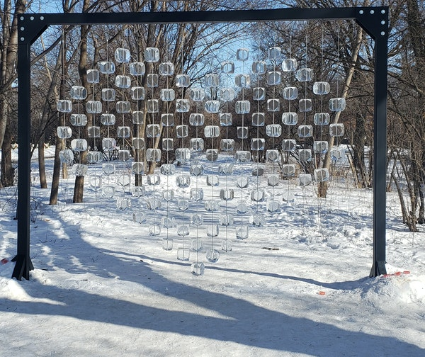A pop-up ice sculpture popped up near Summit Avenue and South Griggs Street in early February. It has recently been taken down to the dismay of reside