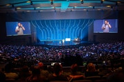 Guest speaker Ted Cunningham at an Eagle Brook Church service in Lino Lakes in June 2019.