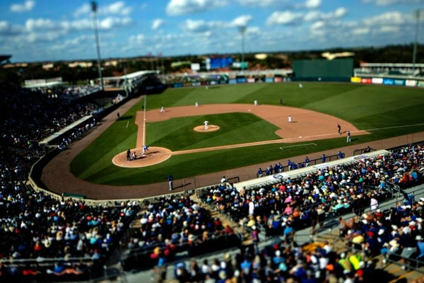 Fans watched the Toronto Blue Jays take on the Twins at Hammond Stadium prior to last year's spring training being shut down. (Carlos Gonzalez/Star
