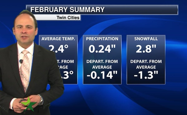 Evening forecast: Low of 4; end of the deep freeze is in sight