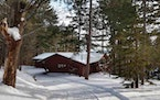 """Courtesy Kathleen Russell, Apostle Islands Realty A fiber internet-connected cabin overlooking Lake Superior in Bayfield, Wis., is advertised as """"yo"""