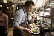 Courtney Perry • Star Tribune file Isaac Becker in the kitchen of Burch Steak and Pizza Bar in Minneapolis, which opened in 2013. It was the Star Tr