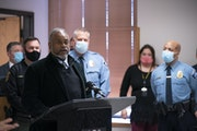 John Harrington, Minnesota public safety commissioner, was one of several speakers at the news conference Wednesday afternoon.