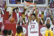 Indiana's Trayce Jackson-Davis dunks during the first half Wednesday vs. the Gophers