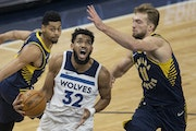 Karl-Anthony Towns was defended Wednesday by Domantas Sabonis of the Pacers