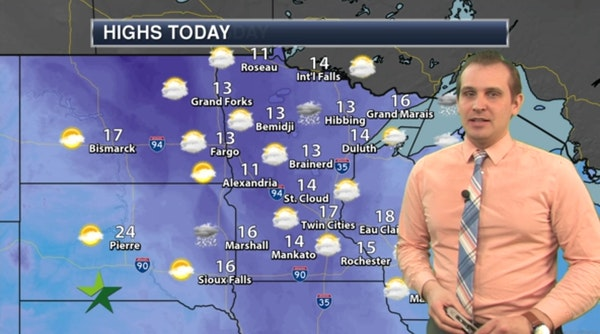 Afternoon forecast: Warming trend continues; high 17
