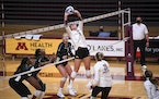 At 6-foot-3, Gophers setter Melani Shaffmaster is unusually tall for her position, and she showcases a wide range of skills.
