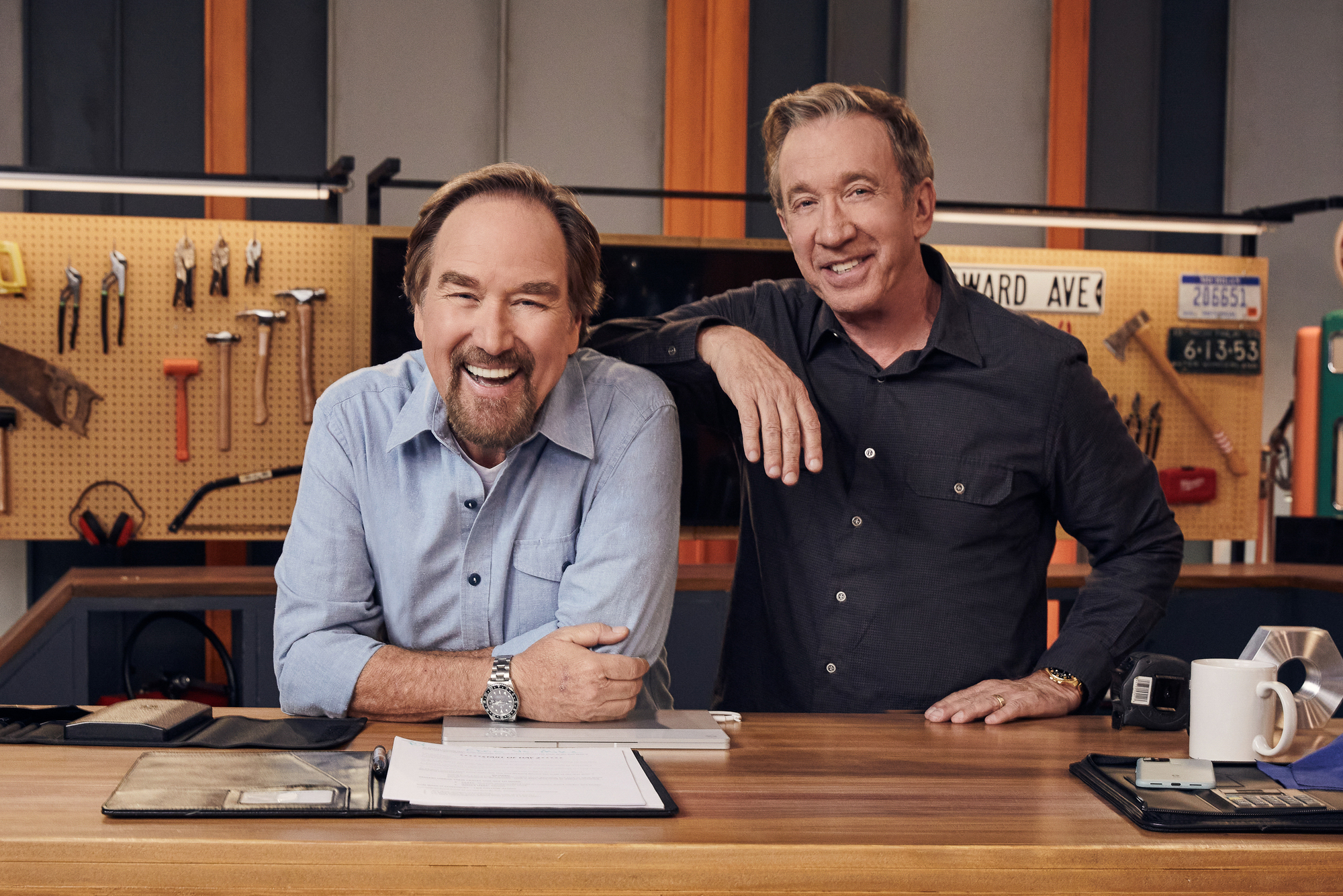 Richard Karn and Tim Allen on 'Assembly Required.'