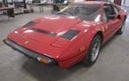 The Ferrari 308 up for bid on Minnesota's surplus auction website.