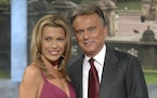 """Vanna White and Pat Sajak of """"Wheel of Fortune."""""""