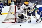 Breck goalie Sarah Peterson protected the post in Saturday's 2-1 victory over Blake. Peterson made 40 saves.