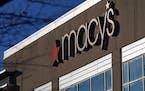 The Macy's logo is seen Monday, Feb. 22, 2021, in Charlotte, N.C.