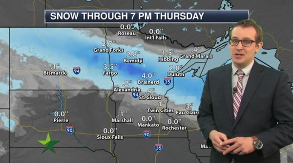 Morning forecast: High 39; PM snow/mix north