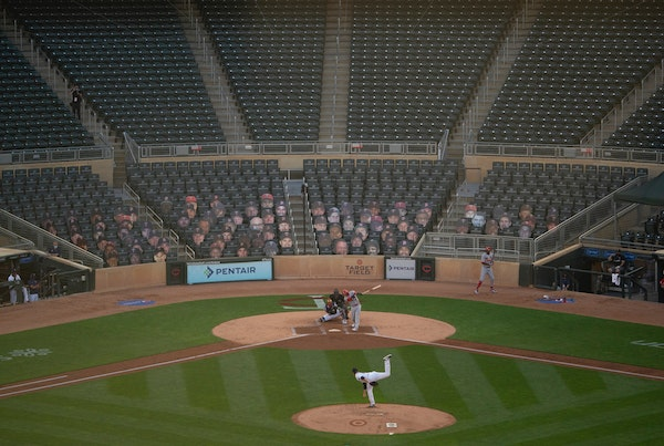 The Twins are hoping to have 10,000 fans at Target Field after no in-person attendance in 2020. JEFF WHEELER • jeff.wheeler@startribune.com