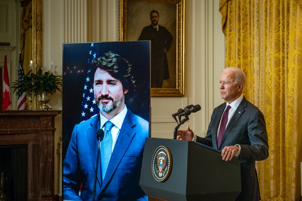 Biden, Trudeau vow to fight COVID, boost relations
