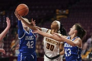 The Gophers' Kadi Sissoko, playing vs. Drake early this season, is averaging 14.1 points and 6.5 rebounds her past eight games after being inconsist