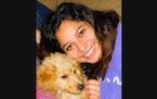 Olivia Chutich with her dog, Winston