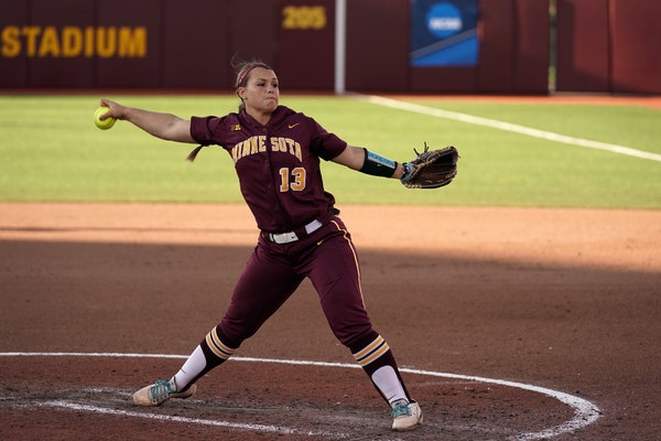 Amber Fiser returns to the Gophers with a 82-26 career record and 1.60 ERA.
