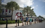 Twins fans waited in line at Hammond Stadium to purchase spring training tickets on Wednesday. Tickets for all 14 home games sold out in 30 minutes.