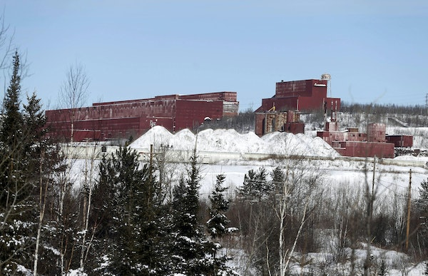 FILE - In this Feb. 10, 2016, file photo, the closed LTV Steel taconite plant is abandoned near Hoyt Lakes, Minn. The Army Corps of Engineers has awar