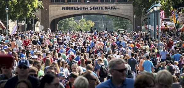 GLEN STUBBE • glen.stubbe@startribune.com The opening day of 2017's Minnesota State Fair.