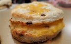 Bacon and cheddar biscuit from Betty & Earl's Biscuit Kitchen, which can now be ordered nationwide.