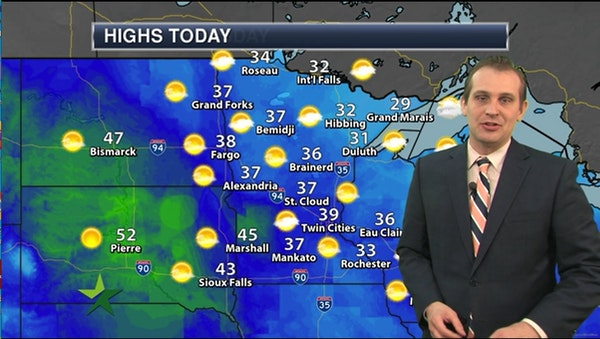 Afternoon forecast: 39 and sunny