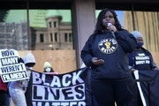 """""""We will continue to take to the streets,"""" said activist Nekima Levy Armstrong in Minneapolis."""