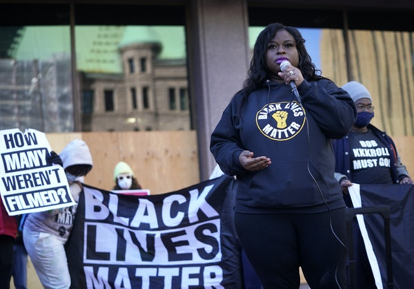 """We will continue to take to the streets,"" said activist Nekima Levy Armstrong in Minneapolis."