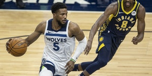 Timberwolves guard Malik Beasley has been one of the team's leading scorers this season.