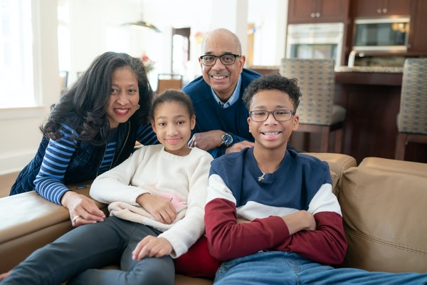 Alicia and Marc Belton with their children Gabrielle, 11, and Alexander 14.      ] GLEN STUBBE • glen.stubbe@startribune.com   Monday, February 15,