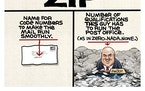 "Sack cartoon: The definition of ""zip"""