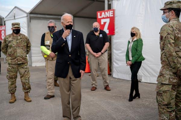 Biden in Texas: 'Nothing partisan' about virus, storm